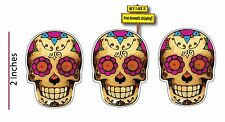 Day of the Dead Bone (1 Pack= 3 Decals) Skull Dia de los muertos Decal Stickers