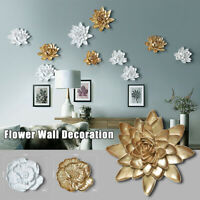 Modern Resin Flower Wall Hanging Home Background Decor Crafts 3D Ornament