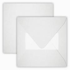 25x Briefumschläge mit Haftstreifen - Weiß - 15,5x15,5cm (155x155mm)