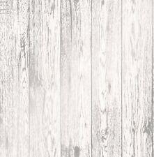 Nuevo 2107 | Metálico Moderno 3D Efecto Panel De Madera Pintado Blanco/Plateado FD41957