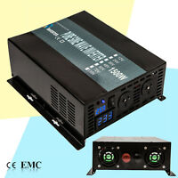 Pure Sine Wave Inverter 1500W Solar Power Inverter 12V/24V DC to 240V AC LED