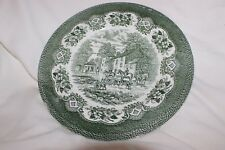 Staffordshire Charger Serving Plate Green Hunting Horses and Dogs
