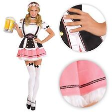 Adult Ladies German Oktobermiss Bavarian Beer Girl Fancy Dress Costume Large