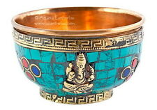 ALTAR BOWL: OFFERING BOWL GANESHA WITH STONES - Wicca Pagan Witch Goth