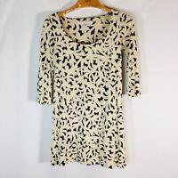 Diane Von Furstenberg Womens 3/4 Sleeve Silk Mini Dress  Size 2