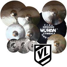 """Wuhan Cymbal Set 8"""" 10"""" 12"""" 14"""" 16"""" 18"""" 20"""" 14"""" HH & BAG splashes crashes rides"""