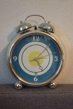 Wecker TCM Tchibo groß Uhr Wand Glocken Silber blau weiß 243731