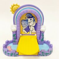 Rare Vintage 1998 My Little Pony Hasbro Castle Draw Bridge Frog Button Moat A3