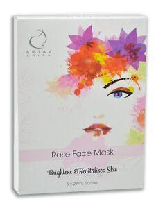 Natural Rose Face Mask 5 x 27ml sachet