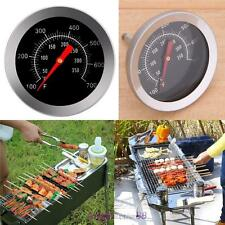 Stainless steel BBQ Barbecue Smoker Grill Meat Thermometer Dial Temperature