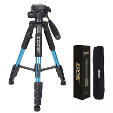 "ZOMEI Q111 55"" Professional Aluminum Alloy Camera Tripod for DSLR Camera Blue"