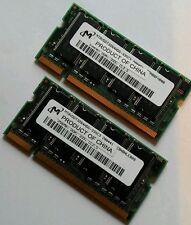 2x256MB DDR333 SODIMM memoria para portatil