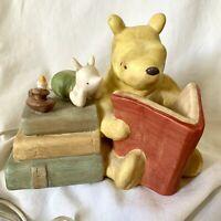 Vintage Winnie the Pooh Ceramic Lamp Nursery Night Light Pooh Reading to Piglet