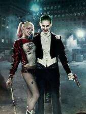 """X Suicide Squad art Canvas THE JOKER HARLEY QUINN POSTER 36x24"""""""