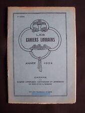 Les cahiers lorrains - N°12 1924