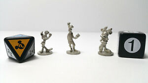 Disney Scene It 3 Movers Tokens Characters and 2 Dice Replacement Parts Pieces