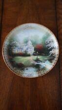 Thomas Kinkade Collector Plate Hometown Chapel - The Spirit of Life