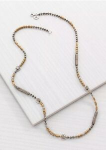 """❤️Silpada Show Your Metal Necklace N3104 Sterling brass labradorite 30"""" NWT"""