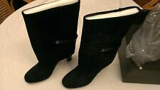 Women's NEW Black Tahari TA-Harper Suede Mid-Calf Boots 10 Medium NWB NIB