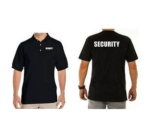 Iron On Heat Security Staff Transfers Font and Back Pair (White Transfers)