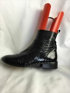Office Ladies Ankle Boots UK Size 6 EU 39 Black Patent Leather.