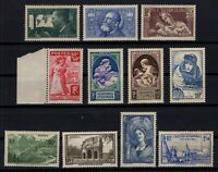 PP135190/ FRANCE STAMPS – YEARS 1936 - 1940 MINT MNH SEMI MODERN LOT – CV 156 $