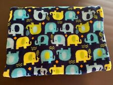 New ListingBaby Gear Blue Green Multi Color Elephant Blanket Vguc
