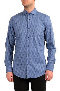 "Hugo Boss Men's ""Jason"" Slim Fit Geometric Print Dress Shirt US 15.5 IT 39"