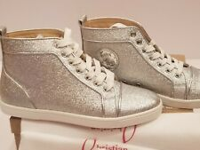 68783d402fb1 New Christian Louboutin Bip Bip Orlato Flat High Top Sneakers Silver Woman  39