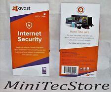 AVAST Internet Security & Antivirus 3 PC 1 YEAR Windows Key Card
