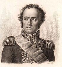 Portrait XIXe Général Maximilien Sébastien Foy Napoléon Bonaparte Empire 1818