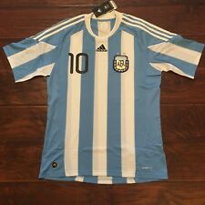 2010 Argentina Home Jersey #10 Messi Medium Soccer World Cup Football NEW
