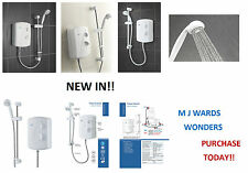 Triton Enrich Manual Electric Shower White 8.5kW - Easy Install