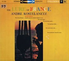 "ANDRE KOSTELANETZ The LURE of FRANCE CS8111 Vinyl 12"" LP-33 Jazz Album EX Stereo"