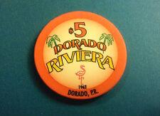 $5 CARIBBEAN CASINO Tribute DORADO RIVIERA Puerto Rico Caribe POKER Chip Club