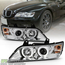 1996-2002 BMW Z3 LED Dual Halo Projector Headlights Lamps Lights Left+Right Pair