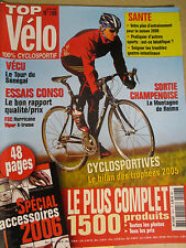 TOP VELO N°106: JANVIER 2006: FSC HURRICANE - VIPER X-TREME - SPECIAL ACCESSOIRE