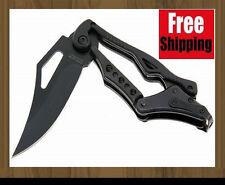 Black Transformers SR Columbia Mechanical Leverage Folding Knife Outdoor Gear