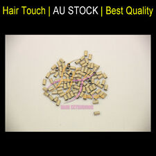 Micro Beads Copper Tube For I Tip Hair Extensions BLONDE 100ps CODE34*30*60