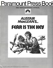 FEAR IS THE KEY pressbook, Barry Newman, Suzy Kendall, John Vernon -PLUS POSTER-
