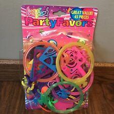 Vtg Lisa Frank Party Favors Birthday Bag Bracelets Rings Unicorn Dolphin Tracing