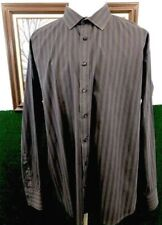Men's Pronto Uomo Casual Career Shirt LS Button Front Striped 3XL XXXL