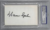 BRAVES Warren Spahn signed 3x5 index card PSA/DNA AUTO Autographed Milwaukee HOF