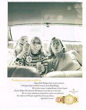 PUBLICITE ADVERTISING 084  1996  PATEK PHILIPPE  collection montre ELLIPSE D'OR