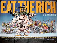 Eat The Rich A1 Filmposter uerformat Lanah Pellay Ronald Allen Fiona Richmond