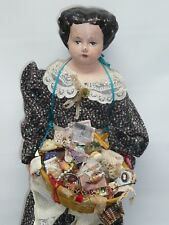 "21"" Vintage Peddler Doll, Wonderful Detailing, Antique Looking, As Found"