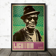 Lightnin' Hopkins Blues Art Poster Lead Belly Muddy Waters  B.B. King