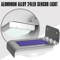Luz de seguridad solar Sensor de movimiento 24 LED iluminacion exterior Luc B6T7