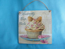Cupcake wooden wall decor, plaque,kitchen decor,vanila cup cake,vintage art gift