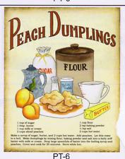 "PEACH DUMPLINGS RECIPE Kitchen Decor Unframed Poster Print U Frame 8X10"""